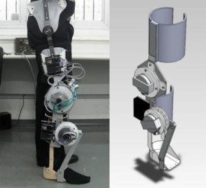 Exoesqueleto de membro inferior de 2GDL