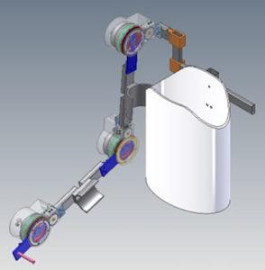 Exoesqueleto de membro superior de 3GDL